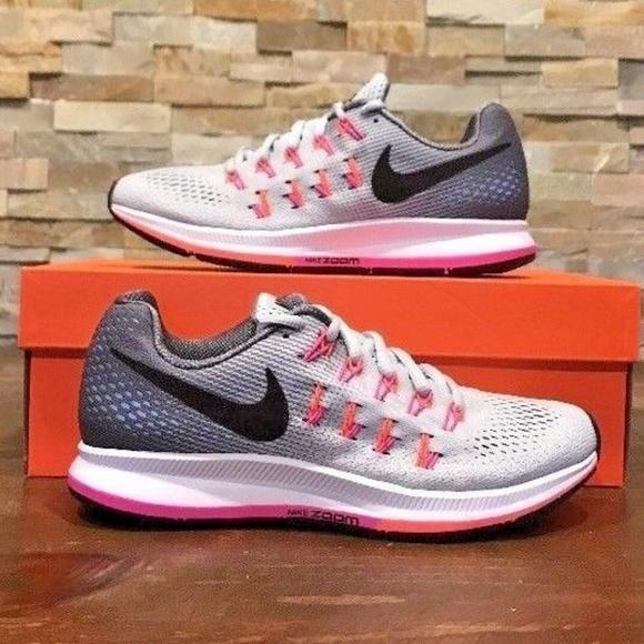 sale retailer a841f 8b58a Nike Air Zoom Pegasus 33 Grey Pink Womens Running